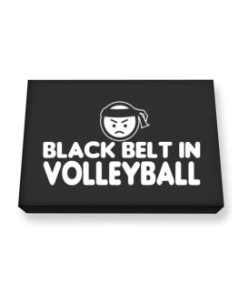 Black Belt In Volleyball Canvas square