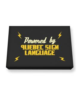 Powered By Quebec Sign Language Canvas square