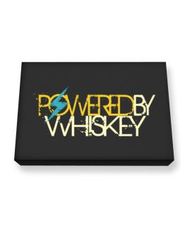 Powered By Whiskey Canvas square