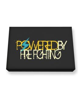 Powered By Fire Fighting Canvas square