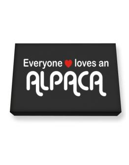 Everyones Loves Alpaca Canvas square