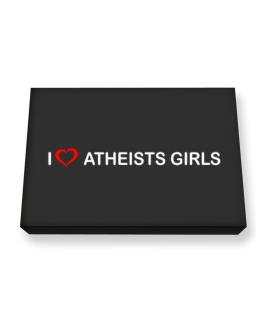 I love Atheists Girls Canvas square