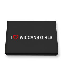 I love Wiccans Girls Canvas square