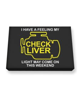 Check Liver light Canvas square