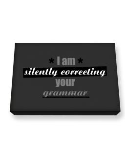I am silently correcting your grammar Canvas square