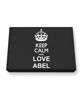 Keep calm and love Abel Canvas square