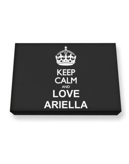 Keep calm and love Ariella Canvas square