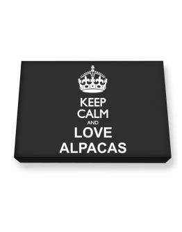 Keep calm and love Alpacas Canvas square