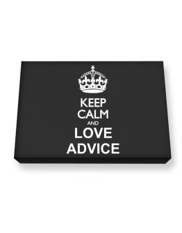 Keep calm and love Advice Canvas square