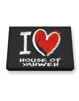 I love House Of Yahweh chalk style Canvas square