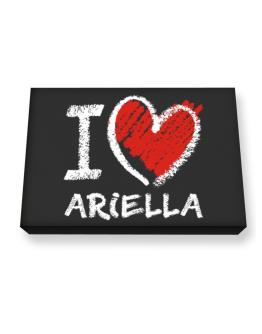 I love Ariella chalk style Canvas square