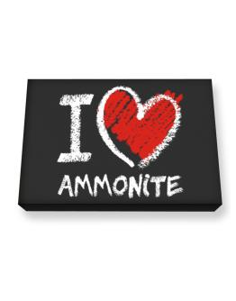 I love Ammonite chalk style Canvas square