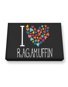 I love Ragamuffin colorful hearts Canvas square