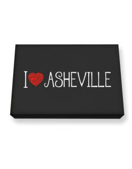 I love Asheville cool style Canvas square