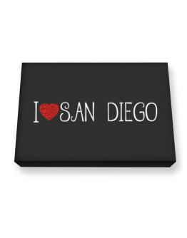I love San Diego cool style Canvas square