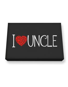 I love Auncle cool style Canvas square