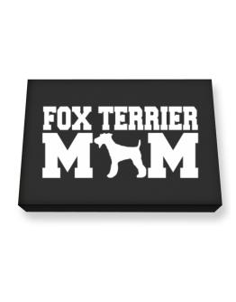Fox Terrier mom Canvas square