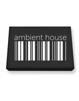 Ambient House barcode Canvas square