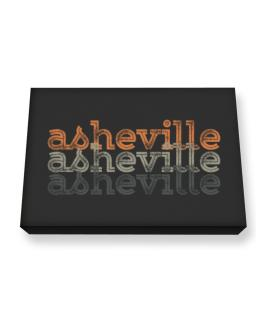 Asheville repeat retro Canvas square