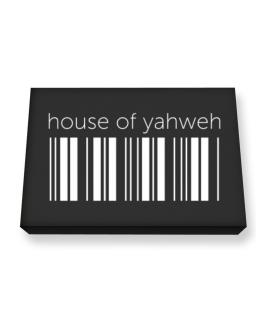 House Of Yahweh barcode Canvas square