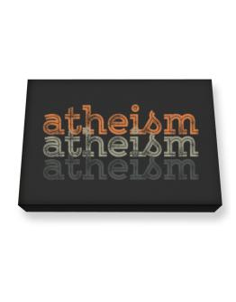 Atheism repeat retro Canvas square