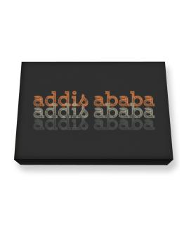 Addis Ababa repeat retro Canvas square