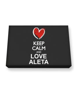 Keep calm and love Aleta chalk style Canvas square