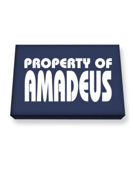 """ Property of Amadeus "" Canvas square"