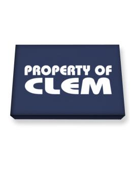 """"""" Property of Clem """" Canvas square"""
