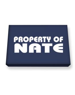 """ Property of Nate "" Canvas square"