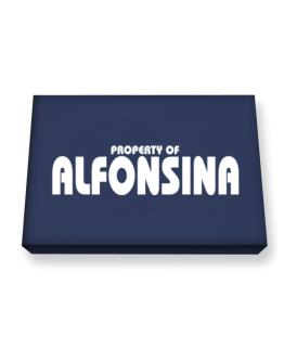 Property Of Alfonsina Canvas square