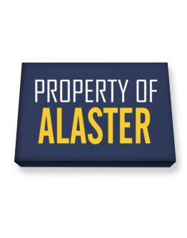 Property Of Alaster Canvas square