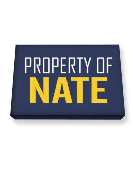 Property Of Nate Canvas square