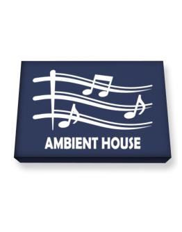 Ambient House - Musical Notes Canvas square