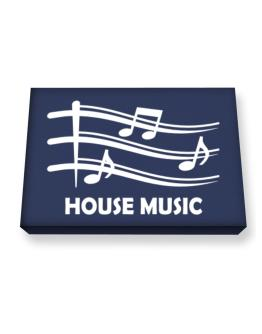 House Music - Musical Notes Canvas square