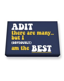 Adit There Are Many... But I (obviously) Am The Best Canvas square