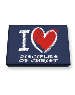 I love Disciples Of Christ chalk style Canvas square