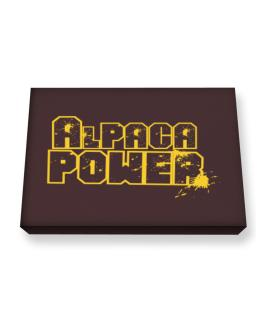 Alpaca Power Canvas square