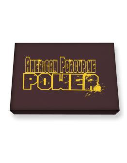 American Porcupine Power Canvas square