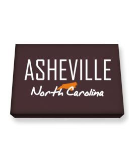 """ Asheville - State Map "" Canvas square"
