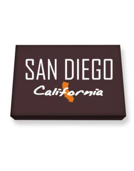 """"""" San Diego - State Map """" Canvas square"""