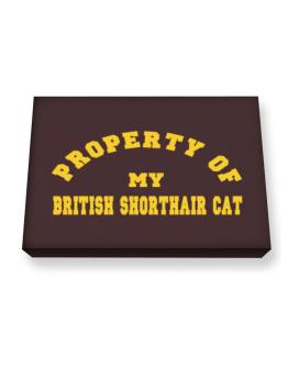 Property Of My British Shorthair Canvas square