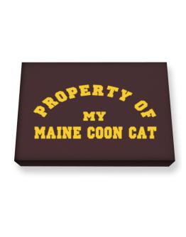 Property Of My Maine Coon Canvas square