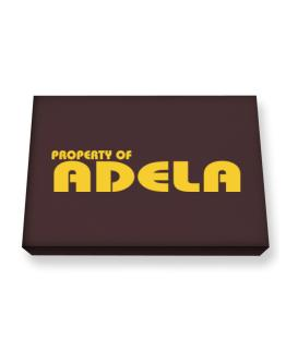 """"""" Property of Adela """" Canvas square"""