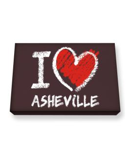 I love Asheville chalk style Canvas square