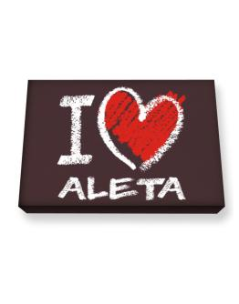 I love Aleta chalk style Canvas square