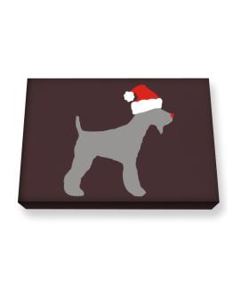 Fox Terrier christmas Canvas square
