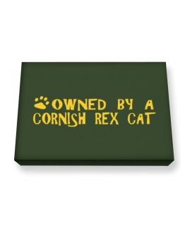 Owned By A Cornish Rex Canvas square