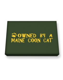 Owned By A Maine Coon Canvas square