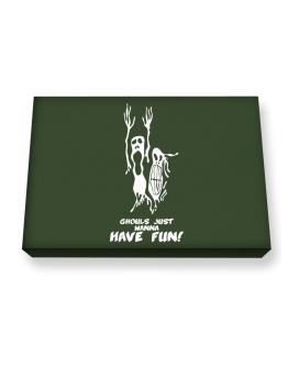 Ghouls just wanna have fun! Canvas square